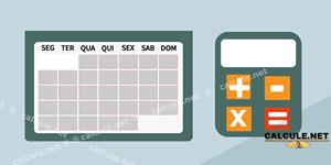 Calculadora de datas - Calcular dias, meses, semanas, horas, minutos