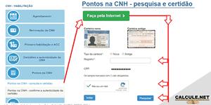 Consultar pontos CNH Detran SP